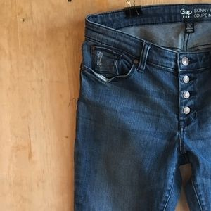GAP Jeans Skinny Fit Button Fly Womens Size 6